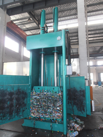 NK110T150 PET Bottles Hydraulic Balers