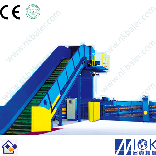 Improve the performance of horizontal waste paper baler