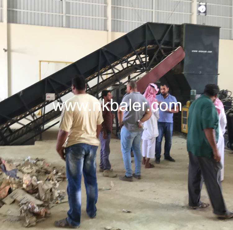 Saudi Customer inpection Baler