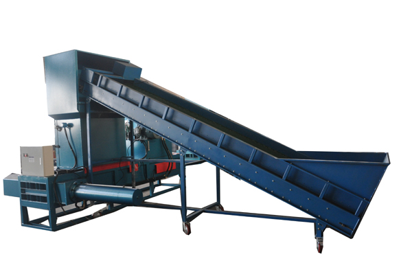 Fiber compression bagging machine
