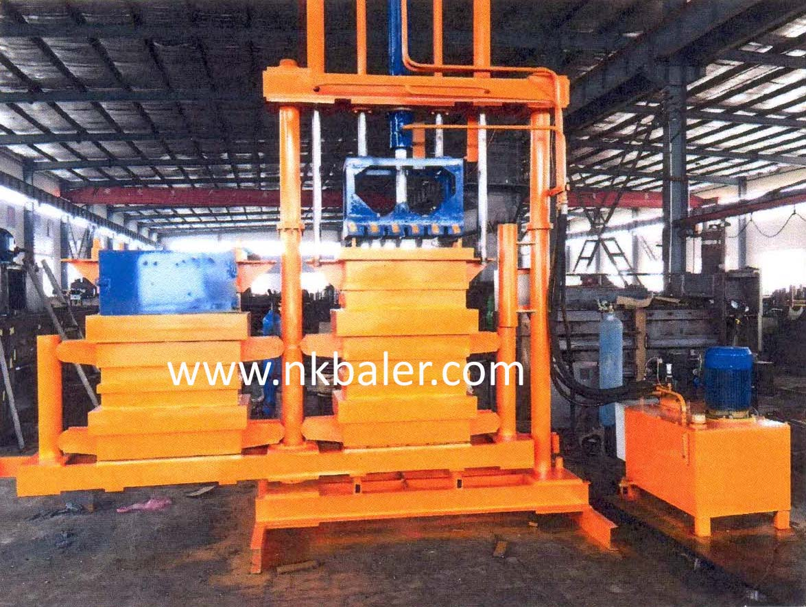 NK-T90 Two Chamber Clothes Baler