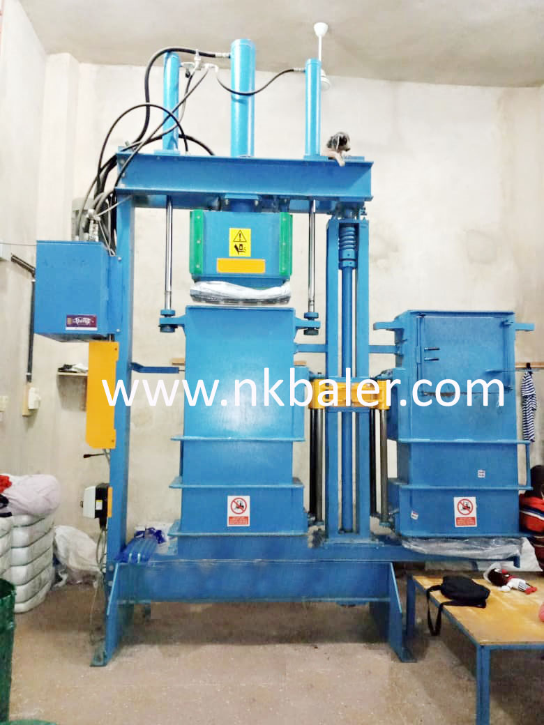 NK-T60L Textile/Clothes Lifting Chamber Balers
