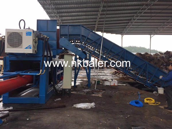 Three different types of waste paper baler equipment from Nick Machinery